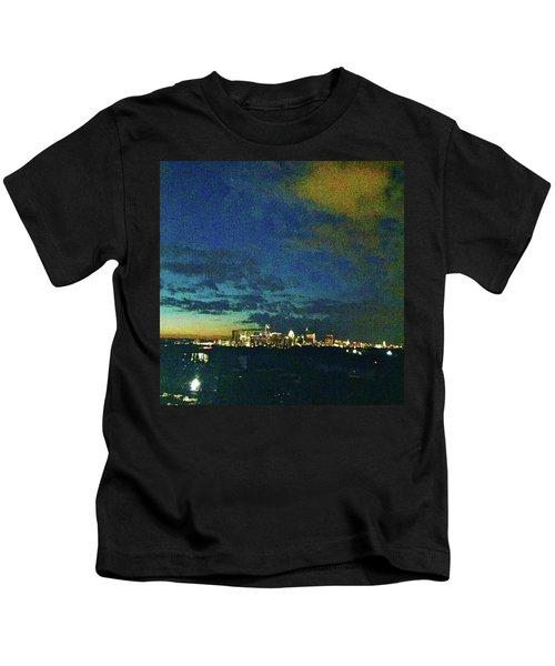 Austin At Dusk Kids T-Shirt