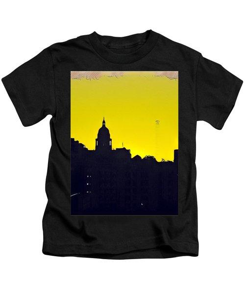Austin Capital At Sunrise Kids T-Shirt