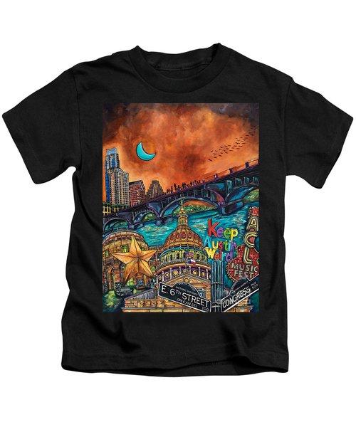 Austin Keeping It Weird Kids T-Shirt by Patti Schermerhorn