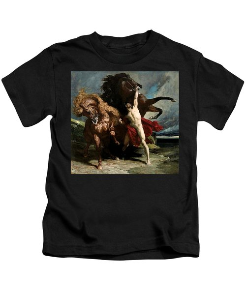 Automedon With The Horses Of Achilles Kids T-Shirt
