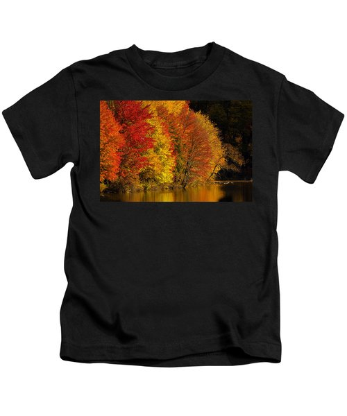 Kids T-Shirt featuring the photograph Autumn Afternoon At The Cove by William Jobes