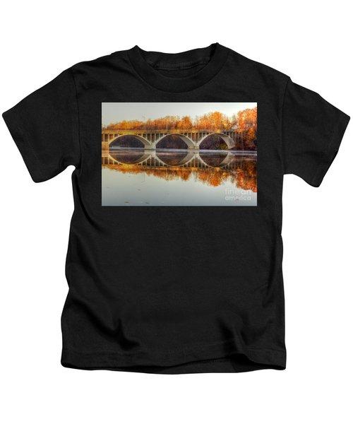 Autumn Bridge Reflections Kids T-Shirt