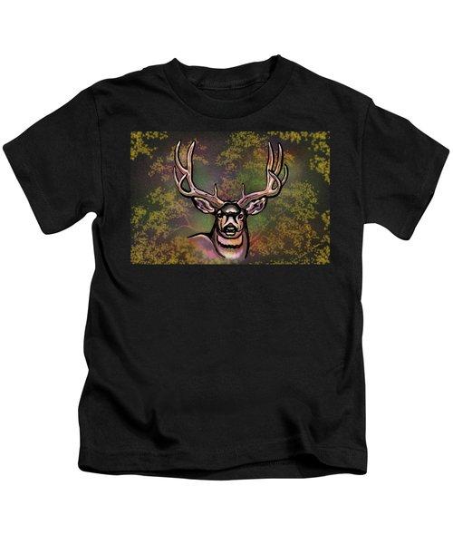 Autumn Deer Abstract Kids T-Shirt