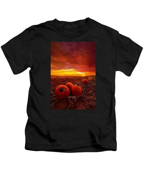 Autumn Falls Kids T-Shirt