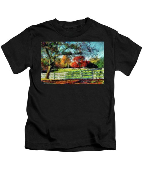 Autumn Field On The Farm Kids T-Shirt