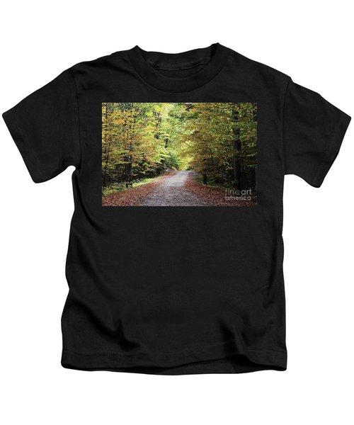 Autumn In Michigan Kids T-Shirt