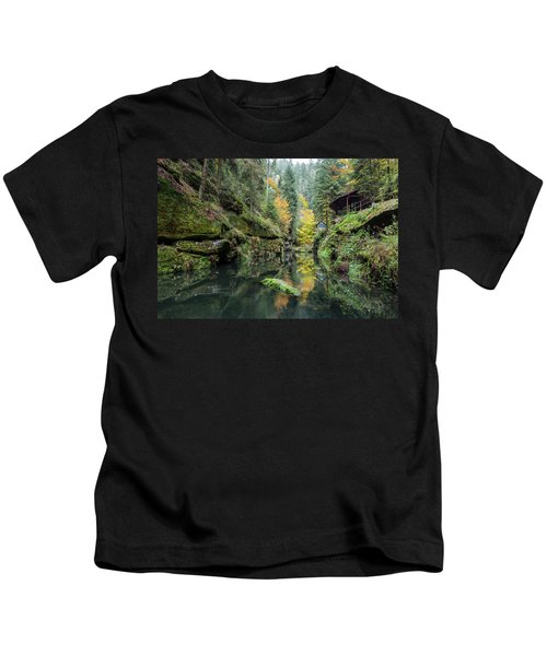 Autumn In The Kamnitz Gorge Kids T-Shirt