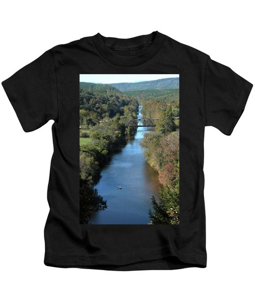 Autumn Landscape With Tye River In Nelson County, Virginia Kids T-Shirt
