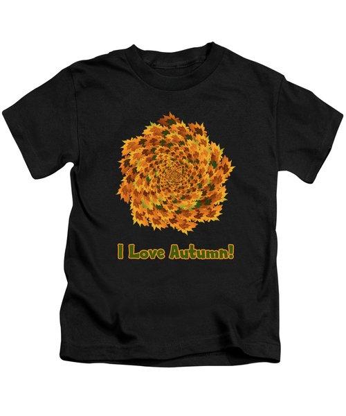 Autumn Leaves Pattern Kids T-Shirt