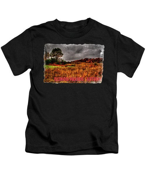 Autumn Near Woodstock Illinois Kids T-Shirt