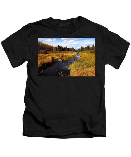 Autumn On Jackfish Creek Kids T-Shirt