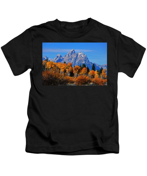 Autumn Peak Beneath The Peaks Kids T-Shirt