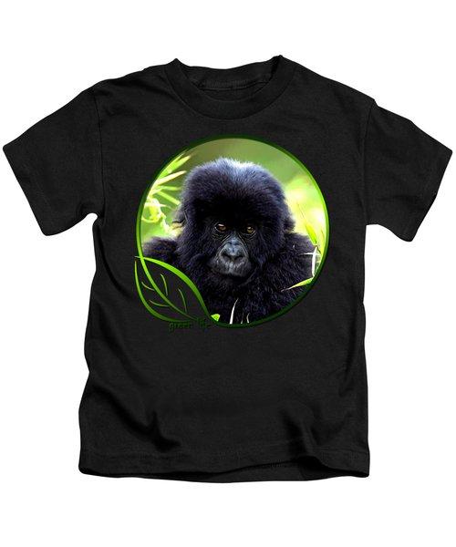 Baby Gorilla Kids T-Shirt by Dan Pagisun