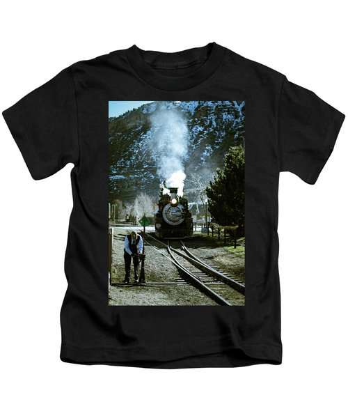 Backing Into The Station Kids T-Shirt