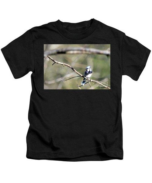 Backyard Blue Jay Kids T-Shirt