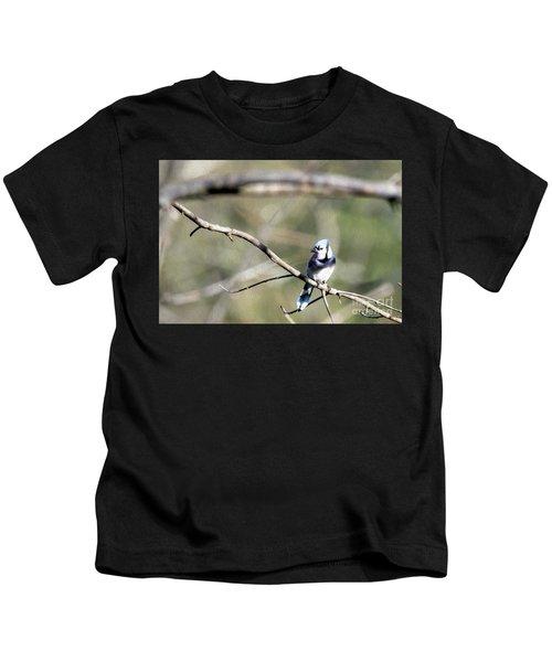 Backyard Blue Jay Oil Kids T-Shirt