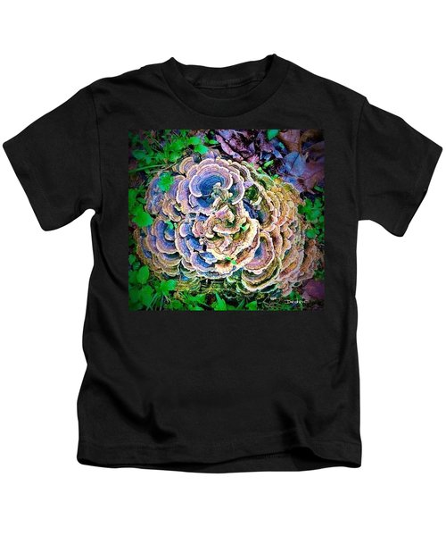 Backyard Mushroom  Kids T-Shirt