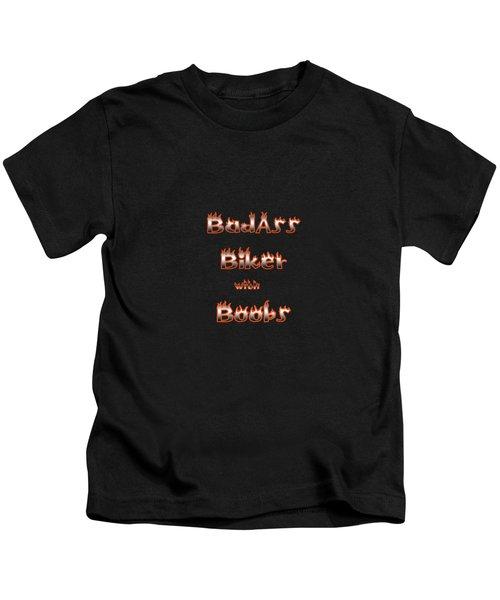 Badass Biker Boobs Kids T-Shirt