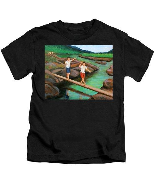 Balancing Life Through A Straight And Narrow Path Kids T-Shirt