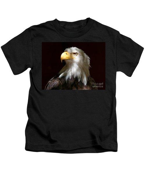 Bald Eagle Closeup Portrait Kids T-Shirt