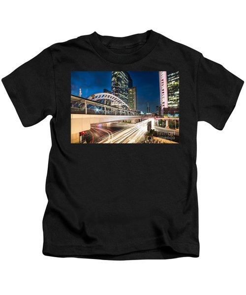 Bangkok Night Rush  Kids T-Shirt