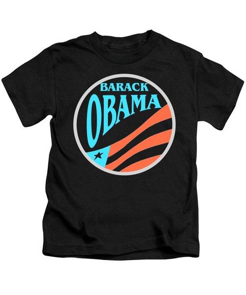 Barack Obama - Tshirt Design Kids T-Shirt by Art America Gallery Peter Potter