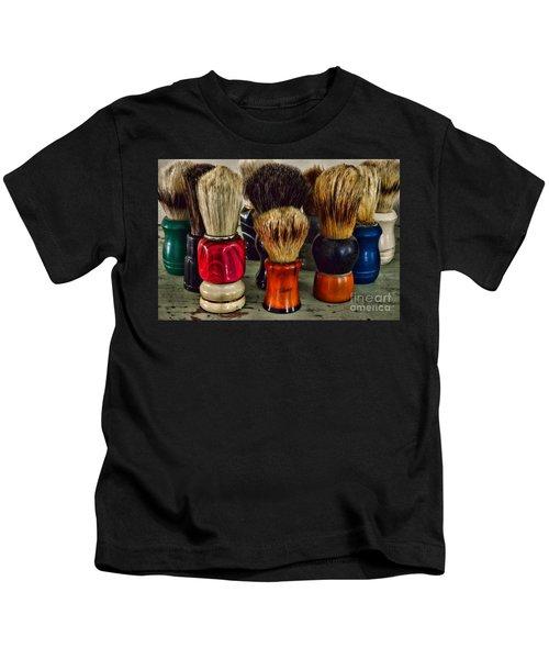 Barber - Shaving Brush Collection Kids T-Shirt