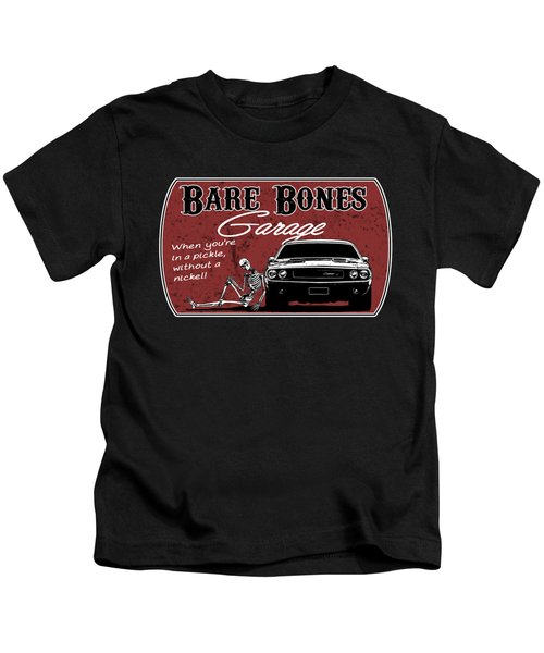 Bare Bones Garage Challenger Kids T-Shirt