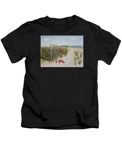 Barefoot On The Beach Kids T-Shirt