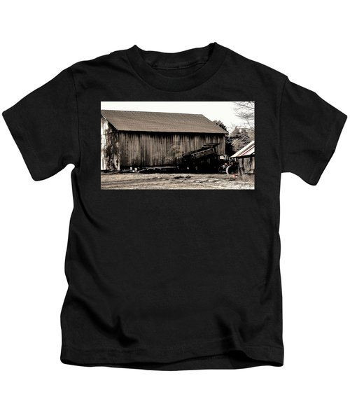 Barn And Truck Kids T-Shirt