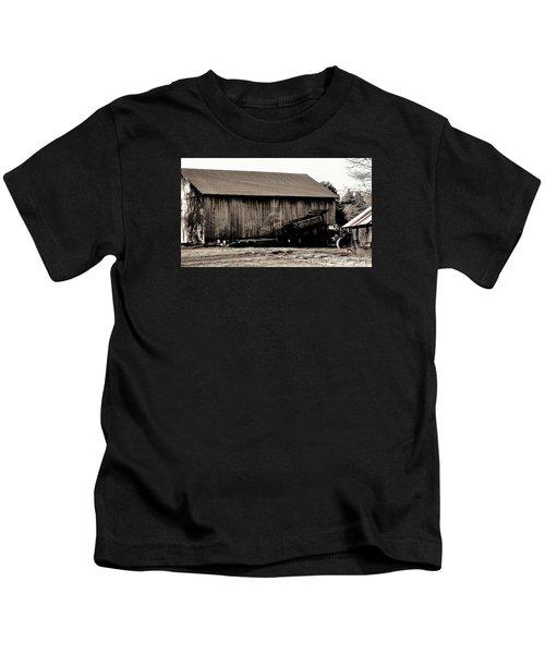Barn And Truck Kids T-Shirt