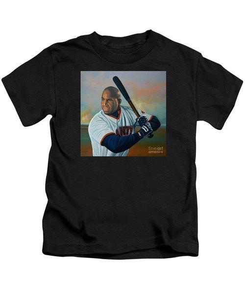 Barry Bonds Kids T-Shirt by Paul Meijering