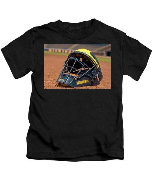 Baseball Catcher Helmet Kids T-Shirt