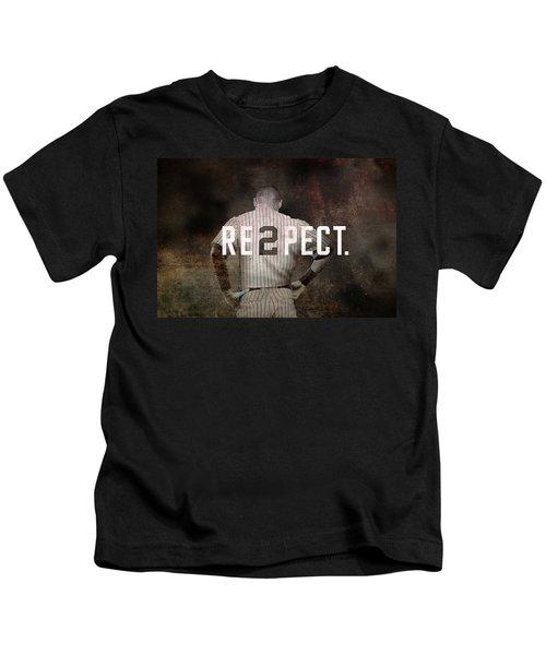 Baseball - Derek Jeter Kids T-Shirt by Joann Vitali