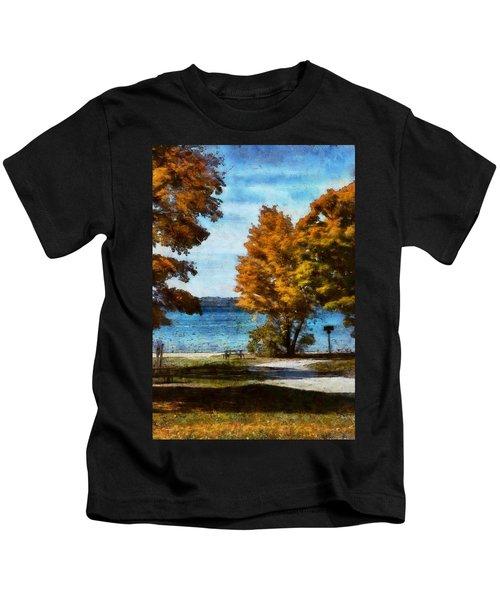 Bass Lake October Kids T-Shirt