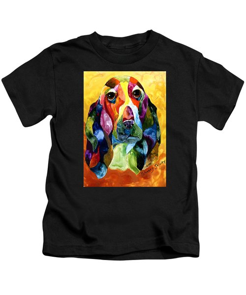 Basset Hound Blues Kids T-Shirt