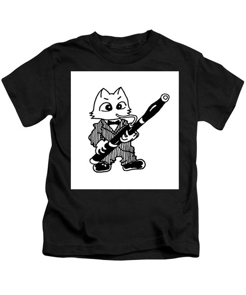 Bassoon Cat Kids T-Shirt