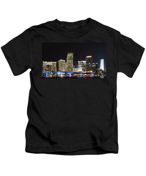 Bay Front Miami Skyline Kids T-Shirt