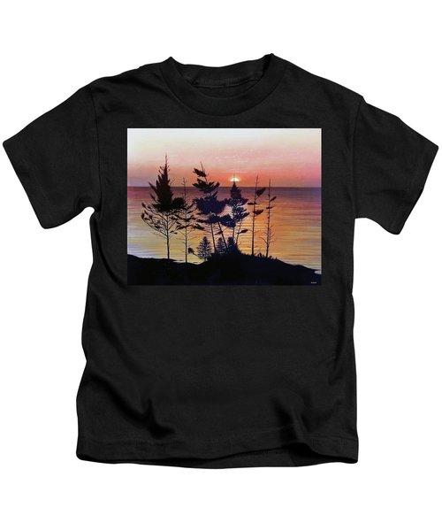 Bay Of Fundy Sunset Kids T-Shirt