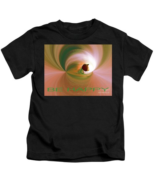 Be Happy Green-rose With Physalis Kids T-Shirt