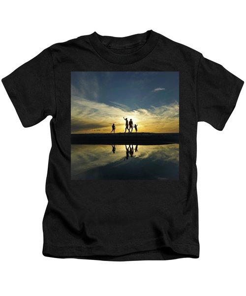 Beach Dancing At Sunset Kids T-Shirt