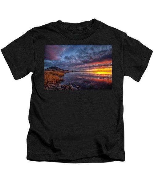 Bear Butte Lake Sunrise Kids T-Shirt