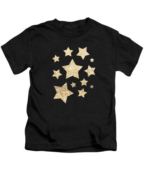 Beautiful Champagne Gold Glitter Sparkles Kids T-Shirt