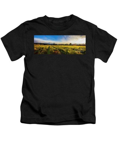 Beauty Over The Vineyard Panoramic Kids T-Shirt