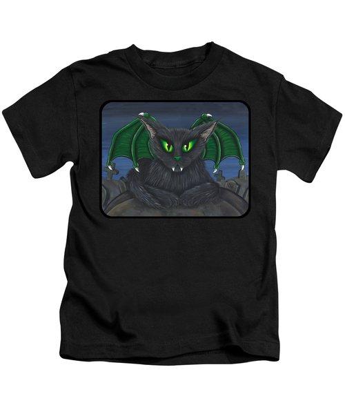 Bela Vampire Cat Kids T-Shirt
