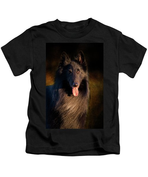 Belgian Groenendael Portrait Kids T-Shirt