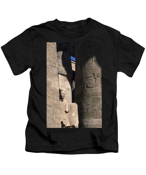 Belief In The Hereafter - Luxor Karnak Temple Kids T-Shirt