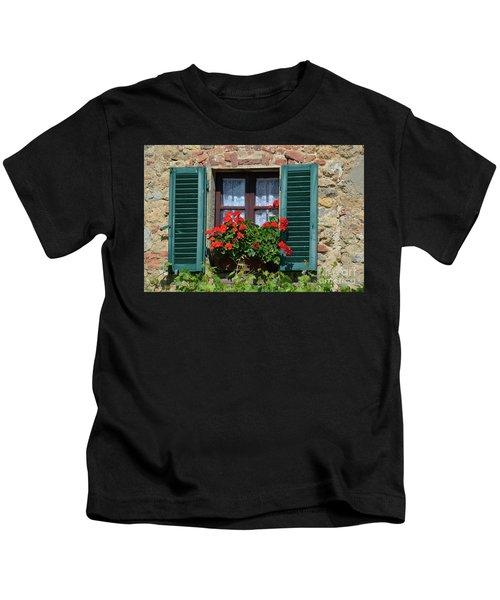 Bella Italian Window  Kids T-Shirt
