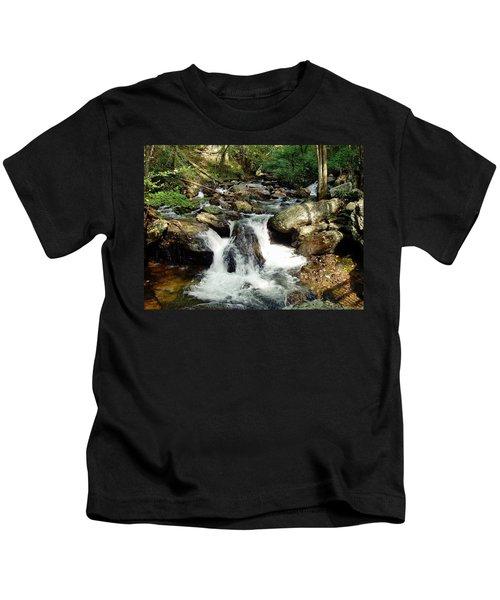 Below Anna Ruby Falls Kids T-Shirt