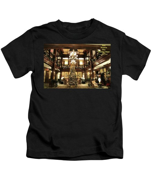 Best Western Plus Windsor Hotel Lobby - Christmas Kids T-Shirt